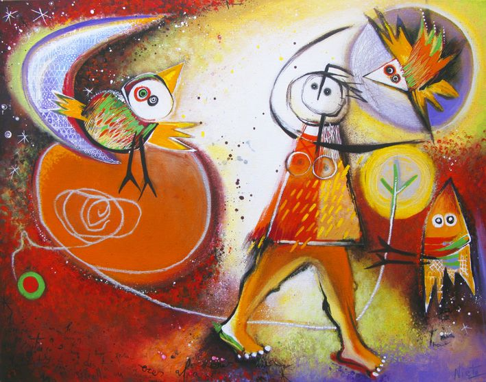 Origineel werk van Angeles Nieto www.kunst-media.nl