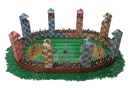 Lego Quidditch Pitch by Alice Finch