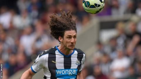 Former Newcastle captain Fabricio Coloccini has left the Championship club after his contract was terminated by mutual consent.