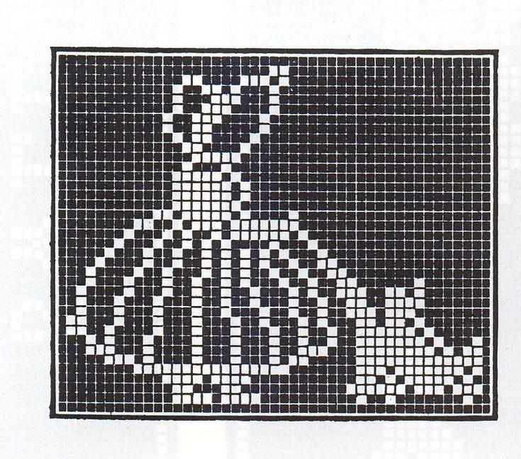 Cross stitch pattern, girl.