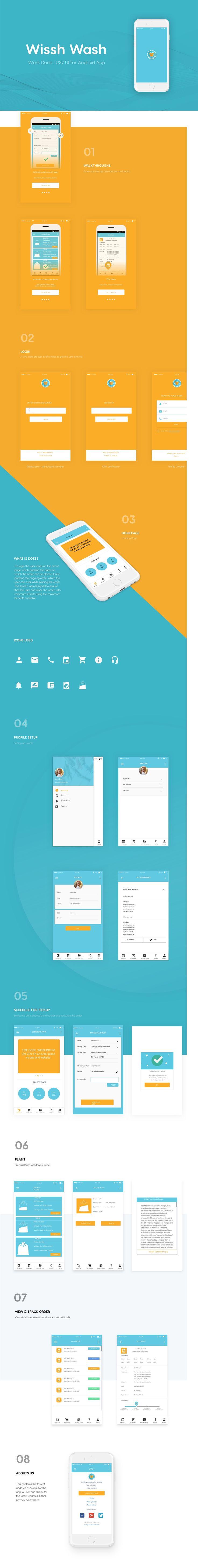 UI design for laundry service company (Wissh Wash)