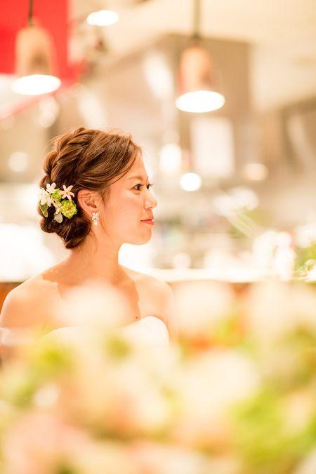 新郎新婦様からのメール 春の装花 ブラッスリー・ポールボキューズ様へ 夢ほたる3 : 一会 ウエディングの花