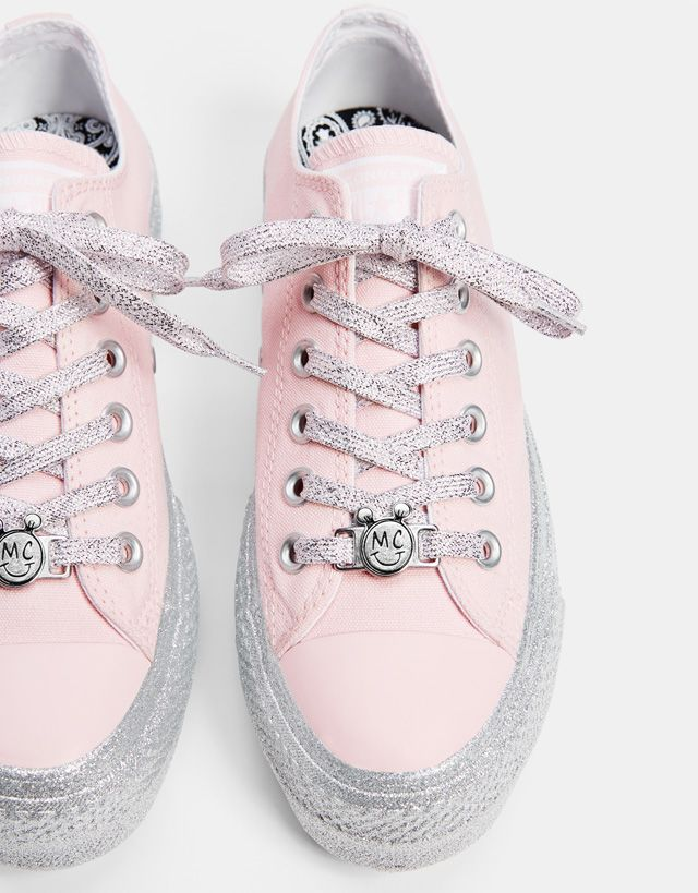 02078673c72 Converse X Miley Cyrus fabric platform sneakers - Bershka #conversexmiley # converse #mileycyrus #