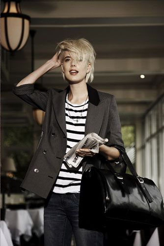 Agyness Deyn. I really like her style and she (obviously) wears the pixie cut soo well!