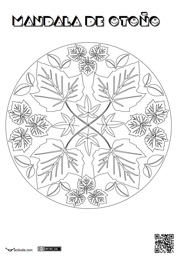 Tres mandalas nuevas con motivos otoñales. Como sabréis los orientales las usan…