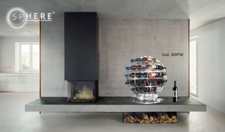 "Sphere (cod. SGP30) Elegant and exclusive plexiglass accessory-sculpture, fits perfectly in the ""living"" and modern design. May contain up to 30 bottles. For many info, please contact me."