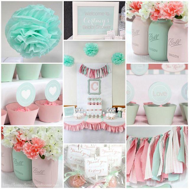 Mint & pink showe