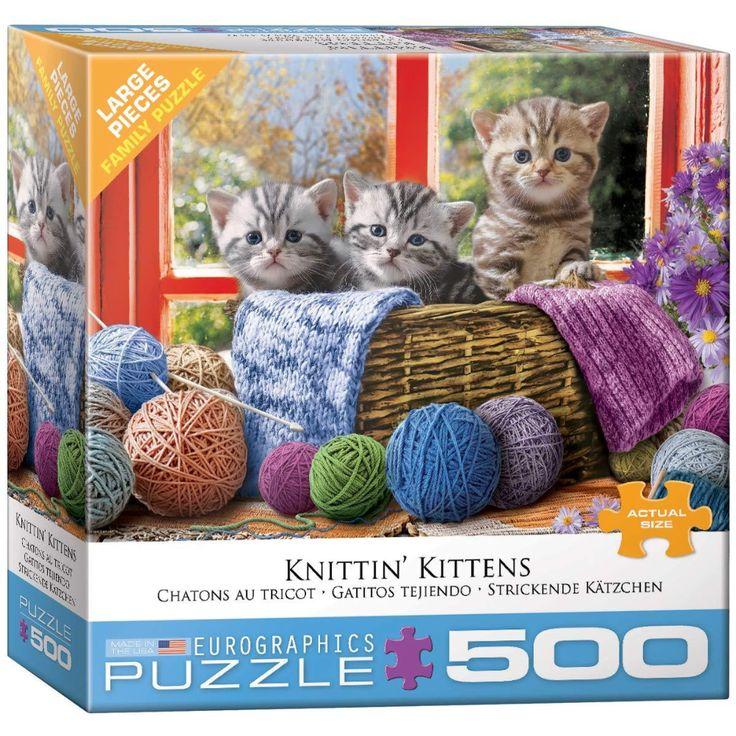 Eurographics puzzle 500 pcs knittin kittens walmart