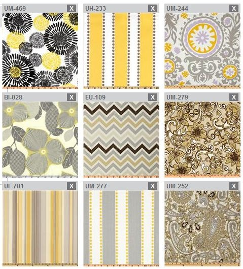 Play Kitchen Grey Yellow Color Scheme Fabric Inspirations   All From  Fabric.com   Any