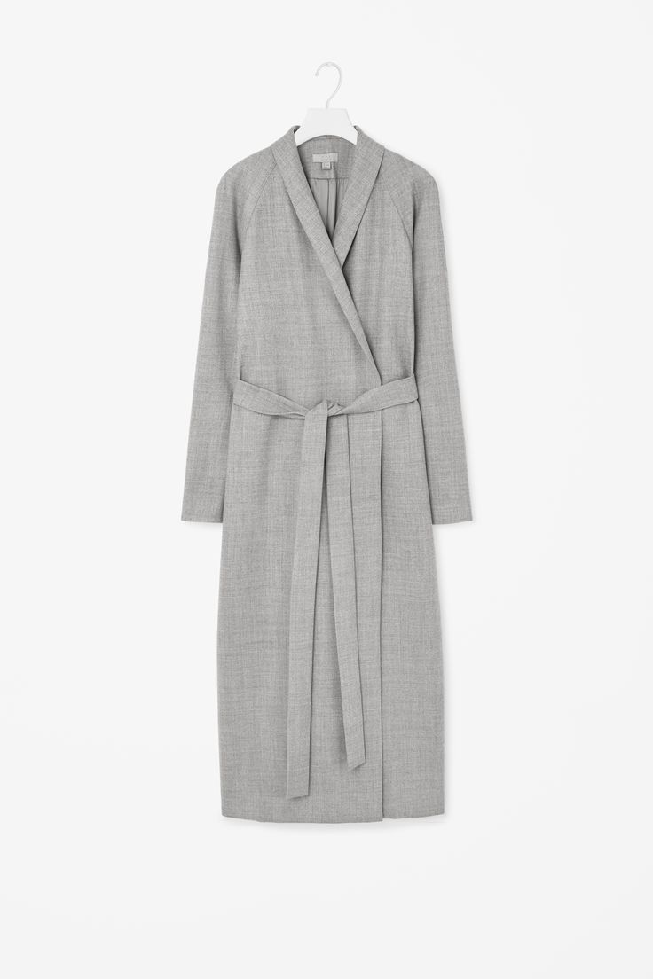 Full-length wool coat