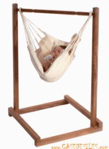 Support hamac bebe à Prix Réduit : Support hamac bébé en acacia