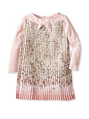 60% OFF Blumarine Girl's Pleated Print Dress (Multi)