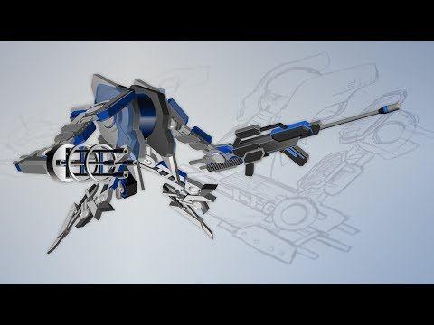 The MechWarrior - an amazing PowerPoint artwork - YouTube