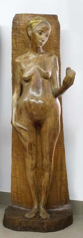 xawery dunikowski, ewa I, 1906-08, polichromia na drewnie