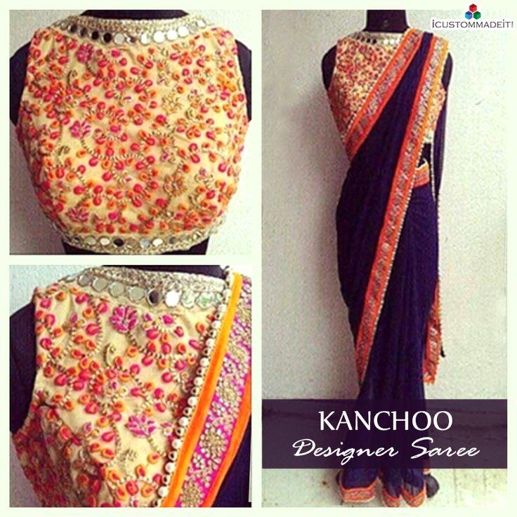 KANCHOO DESIGNER SAREE  #GoEthnicWithICMI #iCMi #Diwali #KarwaChauth #Saree