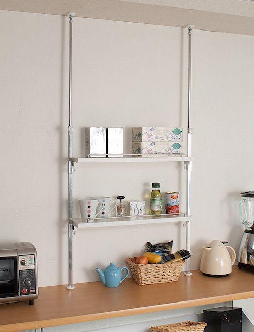 キッチンラック:あなたの思い通りが見つかる6つの選び方 キッチンラック カウンター上 突っ張り