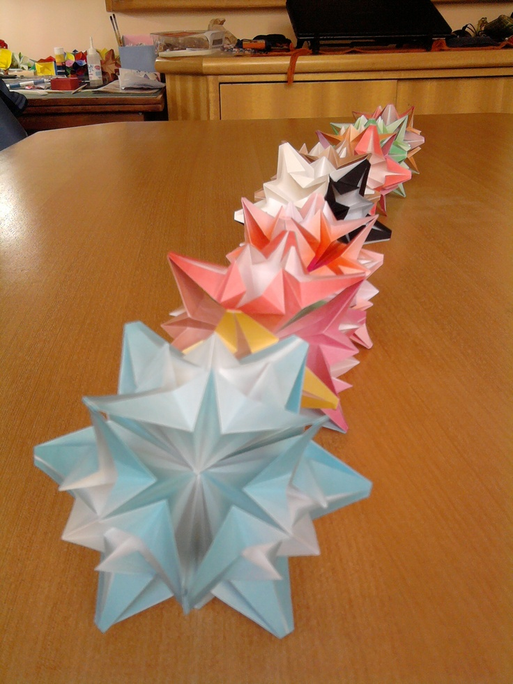 Origamis, produção em série!