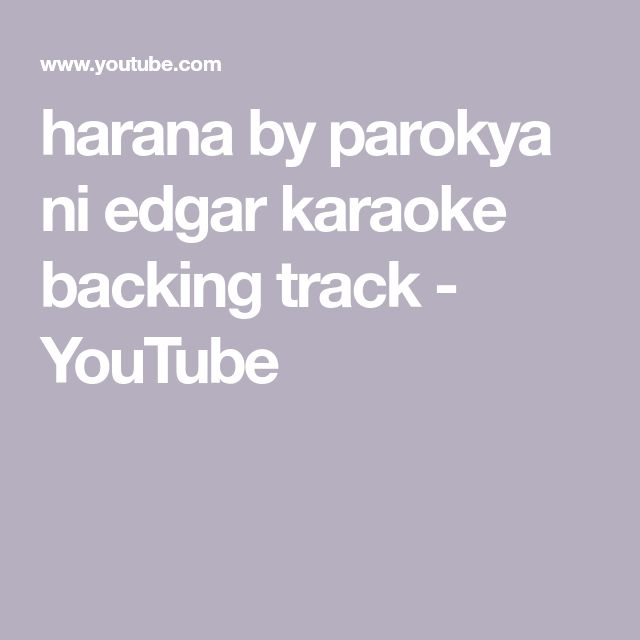 harana by parokya ni edgar karaoke backing track - YouTube