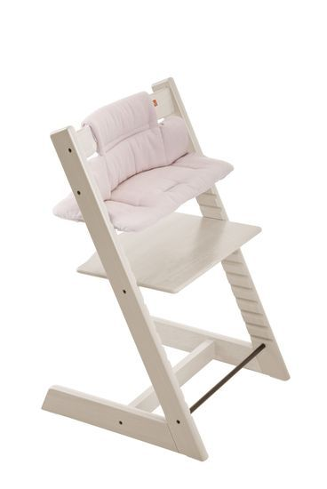 Tripp Trapp® Natural with Baby Set and Pink Tweed cushion