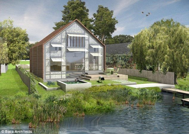 Floating houses could help mitigate flood damage in the UK.