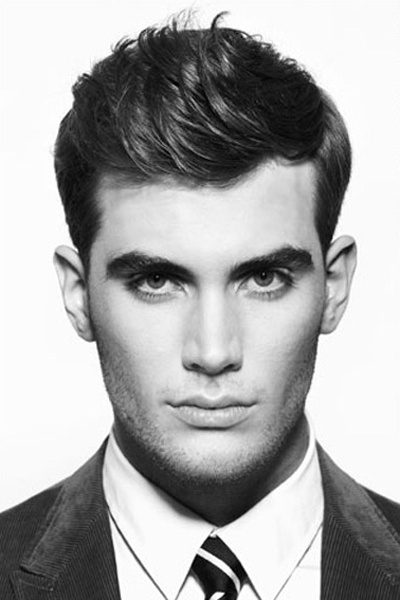 beautiful 1960's inspired slicked back hairstyle