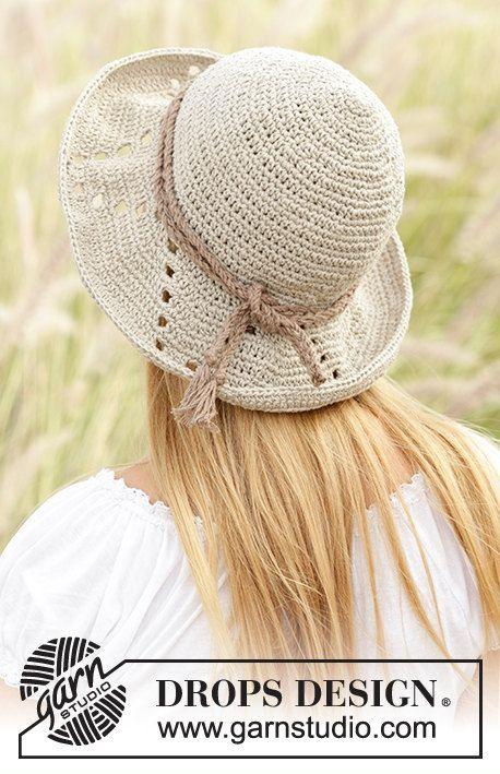 Mejores 7 imágenes de Summer hat, crochet cap, sun hat en Pinterest ...