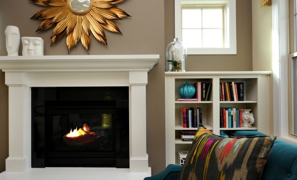 Fireplace Morrisville  Fireplace in the Salter II at Kitts Creek #Morrisville #NC