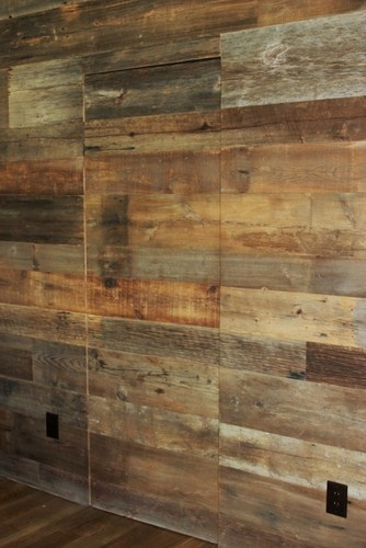 Reclaimed Barn Wood Walls. Would be cool to do one wall of a room in this
