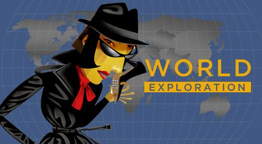 World Exploration - fun geography game from the CIA (believe it or not). Has 3 levels for older elementary, middle school, and high school.