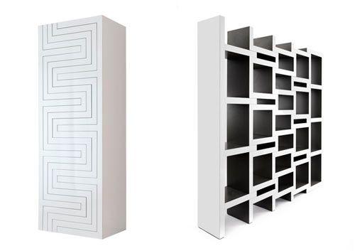 Creative Book Storage Solution: REK bookshelf (expands and retracts as more space is needed) by Reinier de Jong - via design-milk.com