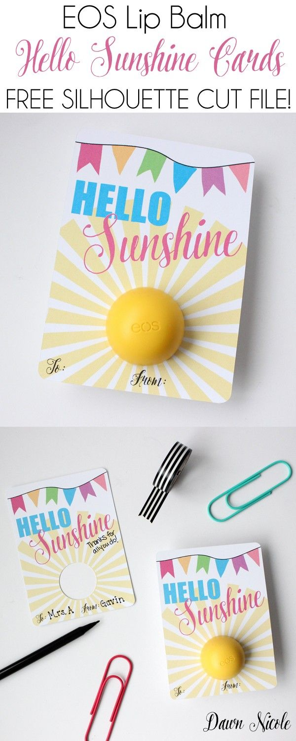 Balm christmas gift turn old eos containers into cool crafts ideas - Eos Lip Balm Hello Sunshine Card