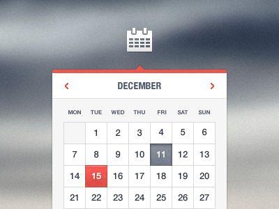 Dribbble - Calendar by Tomas Gajar