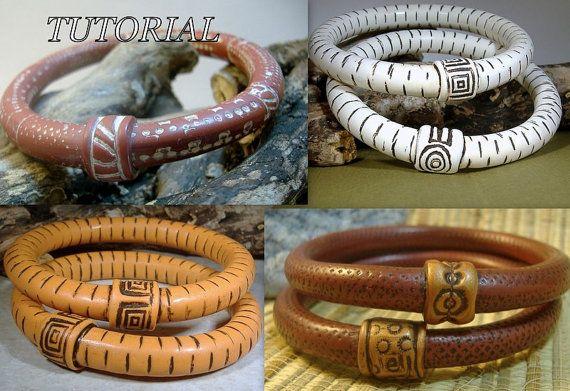 Polymeer klei Tutorial - een perfectioneer eenvoudig armband - Bangle Style armband