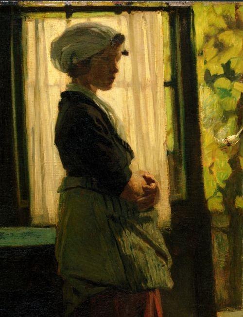 missfolly: Woman (detail) by Jacob Maris