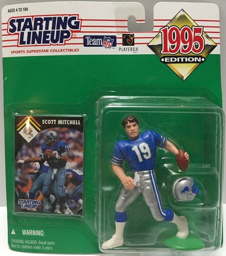 (TAS032794) - 1995 Kenner Starting Lineup NFL Detriot Lions - Scott Mitchell #19