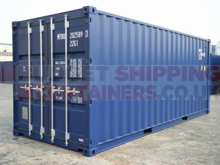20ft shipping containers for sale. High spec shipping containers for storage or export use. New (one trip) 20ft shipping containers for sale UK.