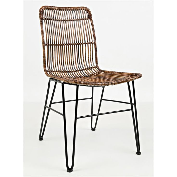 jofran urban dweller rattan dining chair in medium brown (set of 2) - 1604-425kd