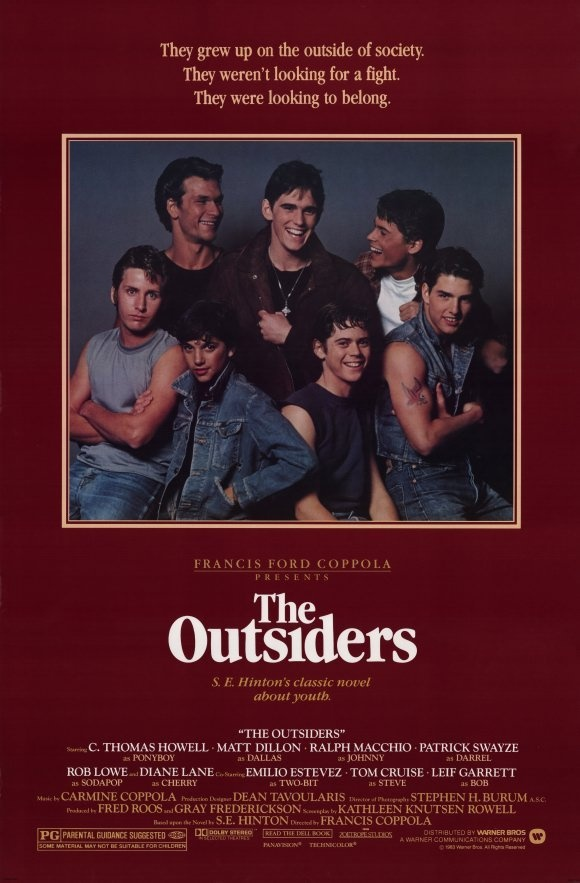 The Outsiders (1983) The best book I read and movie ive ever seen<3