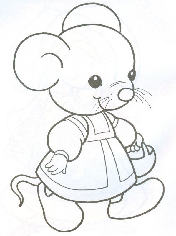 Мышата картинки для детей раскраски