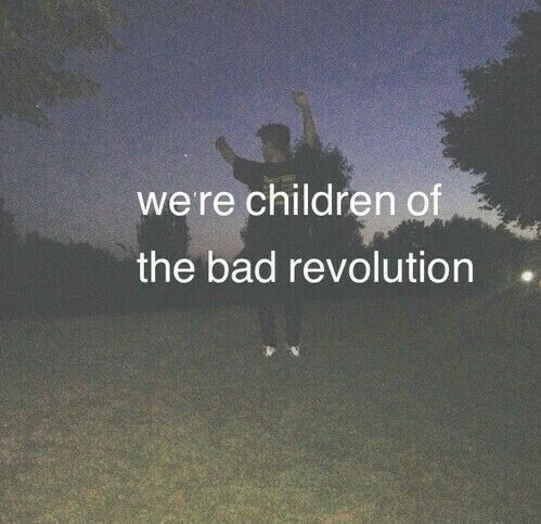 We're children of the bad revolution