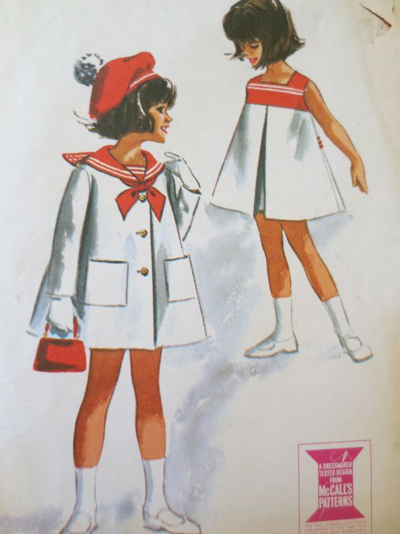 Vintage McCall's 7142 Sewing Pattern 1960s Child by sewbettyanddot, $12.50