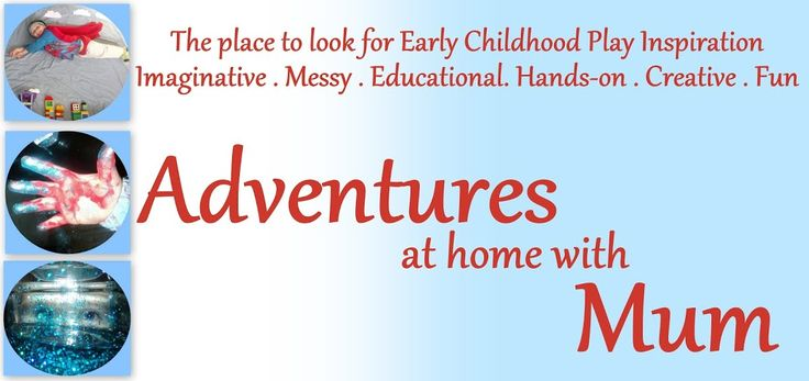 Adventures at home with Mum. Blog full of baby/toddler play ideas.