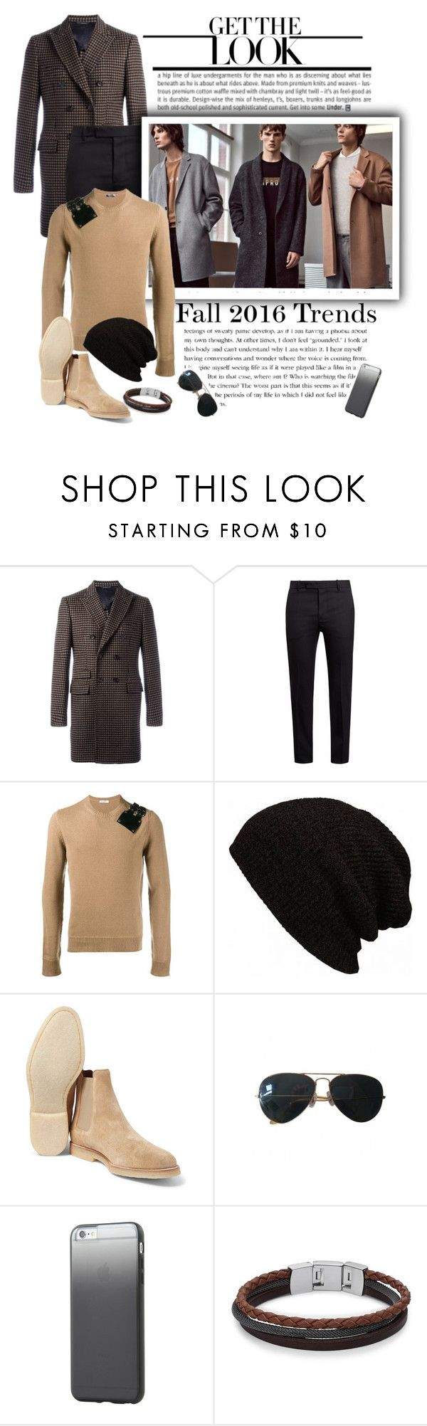 """""""Get the look: Mens knitwear"""" by emcf3548 ❤ liked on Polyvore featuring Tonello, Marni, Valentino, Ray-Ban, Tavik Swimwear, FOSSIL, men's fashion and menswear"""