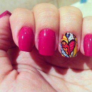 nail art romero britto