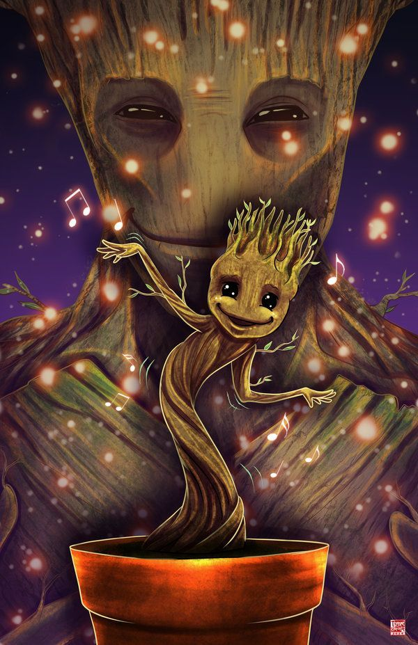 I'm going to need for the dancing Groot toy to come out. I'm not saying I'll be the 1st in line.... We Are Groot by TyrineCarver