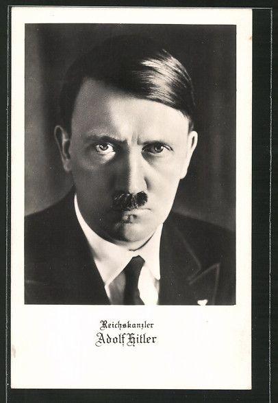 old postcard: AK Reichskanzler Adolf Hitler im Anzug