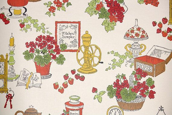 Retro Wallpaper By The Yard 70s Vintage Wallpaper 1970s Etsy In 2020 Vintage Wallpaper Vintage Wallpaper Patterns Retro Wallpaper