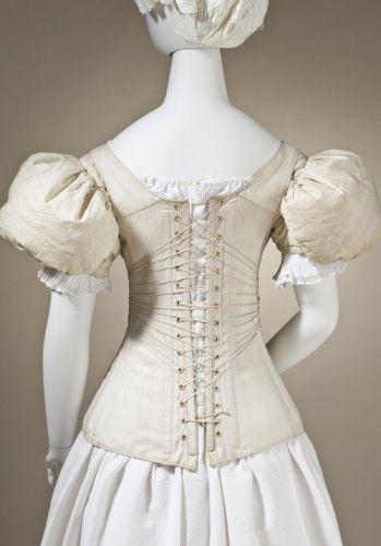 Corset England 1830-40