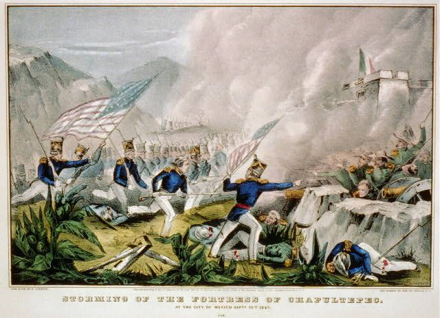 Storming of the Fortress of Chapultepec: at the city of Mexico Sept. 12th 1847