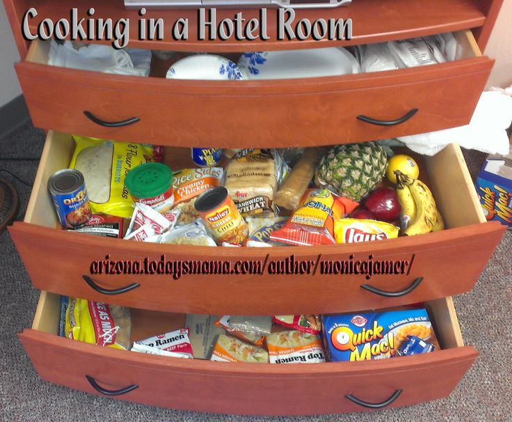 Cook Meals in Your Hotel Room to Save Money on Vacation! This article has a list of ideas of what you could make.